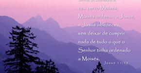 Josué 11:15,Assine o Devocional Para Hoje